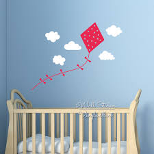 Baby Nursery Wall Decals by Aliexpress Com Buy Baby Nursery Kite Clouds Wall Sticker Clouds