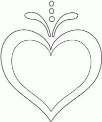 coloring pages for hearts hearts and butterflies coloring page