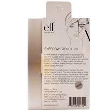 e l f cosmetics eyebrow stencil kit 4 stencils iherb com