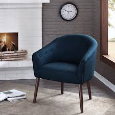 Navy Blue Accent Chair Camilla Mid Century Navy Blue Accent Chair Free Shipping Today