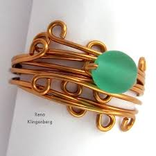 jewelry wire rings images Wrapped stacked wire ring tutorial jewelry making journal jpg
