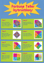 what to write on a paper fortune teller activity pack it s all bright the