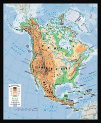 North America Map by Physical Map Of North America North America Physical Map