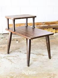 diy mid century modern coffee table diy mid century modern side table shelterness