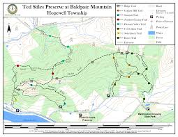 Nj Path Map Ted Stiles Preserve At Baldpate Mountain New Jersey Trails