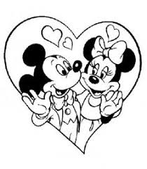 Mickey Minnie Valentine Pages Color Mickey