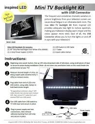 inspired led home theater accent light kit ambient light tv