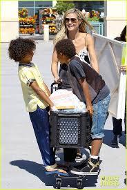 heidi klum takes her kids leni henry johan and lou shopping at