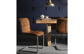 Leather Dining Chair Vintage Leather Dining Chair Furniture4yourhome
