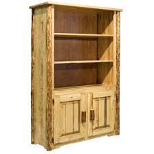 log bookcases u0026 bookshelves rustic log furniture by amish meadows