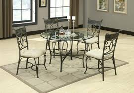 round metal dining room table legs chairs ebay diy set uk bases