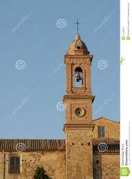 Montepulciano Italy Map by Montepulciano Bell Tower Italy Royalty Free Stock Photography