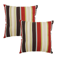 Plantation Patterns Seat Cushions by Plantation Patterns Poolside Stripe Square Outdoor Throw Pillow 2