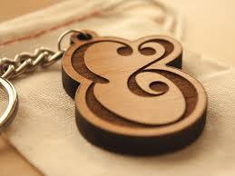 wooden keychains ampersand keychain lettering by seanwes