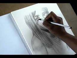 artistic drawing practices water soluble graphite portrait youtube