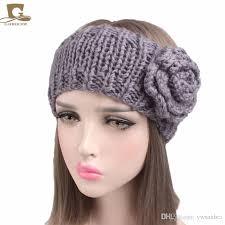 headband ear warmer 2018 vintage women s chunky knitted turban headband ear warmer