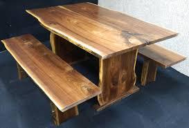 Maple Dining Room Sets Figured Black Walnut Lumber Live Edge Furniture Spalted Maple