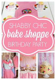 shabby chic bake shoppe party pretty my party