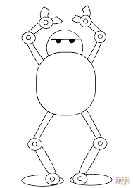 dancing robot coloring page free printable coloring pages
