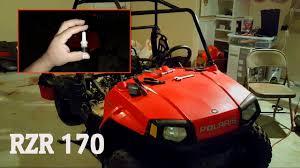 polaris rzr 170 where is the spark plug located youtube