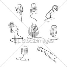 cute retro microphone gl stock images