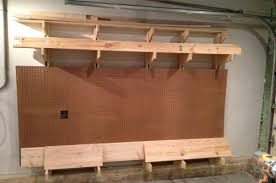 Free Wooden Garage Shelf Plans by How To Build A Wall Mounted Lumber Storage Rack One Project Closer