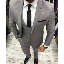 mens light gray 3 piece suit light gray men suit wedding slim 3 piece tuxedo prom suits custom