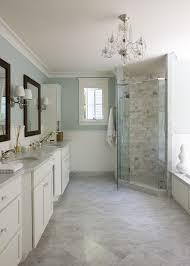 Liz Levin Interiors Bathroom With  X  White Carrara Marble - Carrara marble bathroom designs