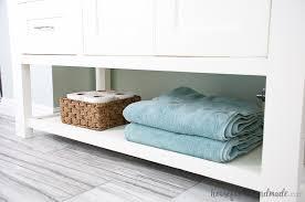 Bathroom Vanity Woodworking Plans Mission Style Open Shelf Bathroom Vanity Buildsomething Com