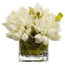 faux flowers charleston snowdrop white faux floral tulip arrangement kathy