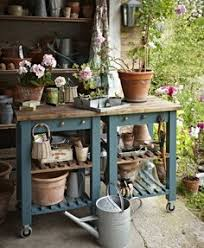Potting Bench Ikea Potting Bench With Sink Plans Potting Benchs Pinterest