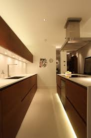 galley kitchen with under cabinet lighting fixtures best