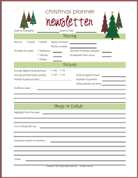 christmas card u0026 newsletter planning printables organizing homelife