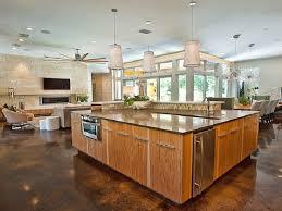 open floor plan kitchen design ideas single story home plans
