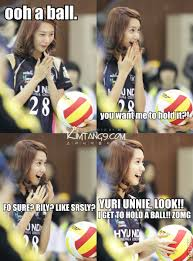Snsd Funny Memes - haha yoona sure loves them balls p girl s generation memes