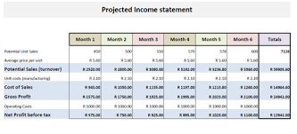 Financial Business Plan Template Excel Business Financial Plan Income Statement
