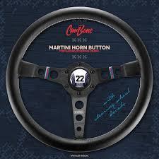 porsche martini logo horn button martini number 22 white car bone pl