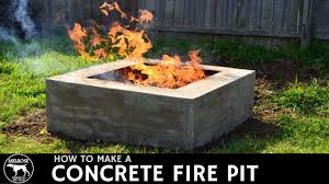 Concrete Fire Pit by How To Make A Concrete Fire Pit Youtube
