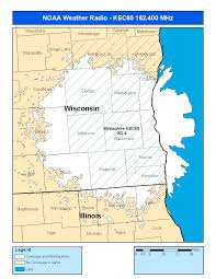 Wisconsin Area Code Map by Noaa Weather Radio Kec60