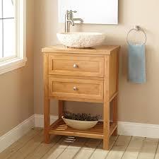 Narrow Depth Taren Bamboo Vessel Sink Vanity Narrow Vanities - Bathroom vanity for vessel sink