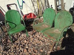 Retro Metal Patio Chairs Vintage Metal Patio Chair Retro Metal Lawn Chair Outdoor Lawn