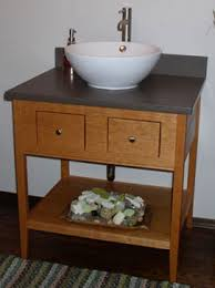 Shaker Style Bathroom Cabinets by Shaker Open Style Cherry Vanity