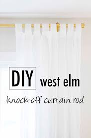 Oversized Curtain Rod 10 Times Gold Spray Paint Made Ikea Products Even Better Ikea