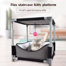 Pet Canopy Bed Removable Cat House Nest Pet Clever
