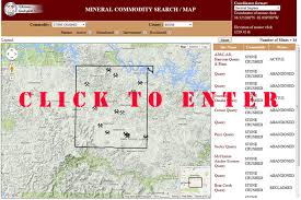 me a map of arkansas mining web map