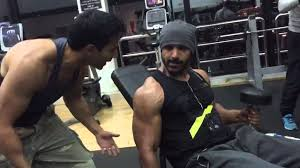 john abraham u0026 varun dhawan doing workouts in gym dishoom