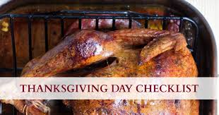 checklist for hosting a stress free thanksgiving dinner