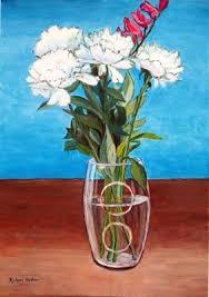 Glass Vase Painting Richard Waldron