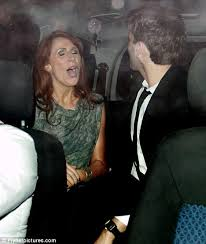 catherine tate and david tennant celebrate after getting rave