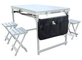 aluminum portable picnic table amazon com klb sport 100 aluminum portable folding picnic table w